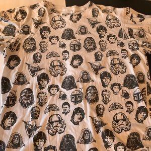 Star Wars Sz L character image s/s shirt
